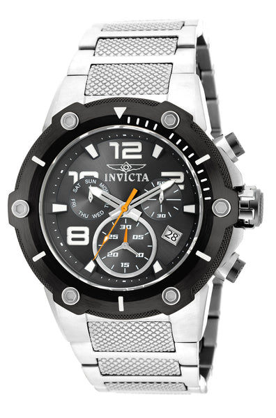 Invicta 19528 Speedway Chronograph Black Dial Stainless Steel Mens Watch