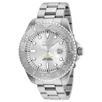 Invicta Men's 24621 Pro Diver Quartz 3 Hand Silver Dial Watch