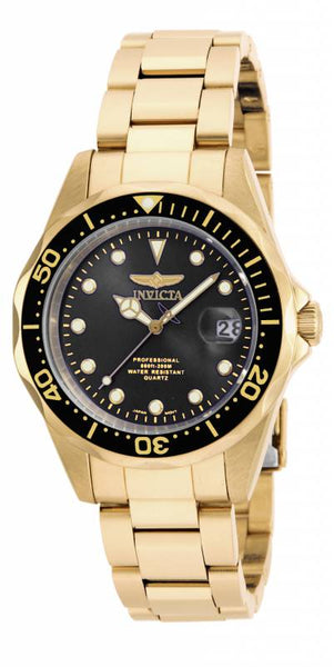 Invicta Men's 17051 Pro Diver Quartz 3 Hand Black Dial Watch