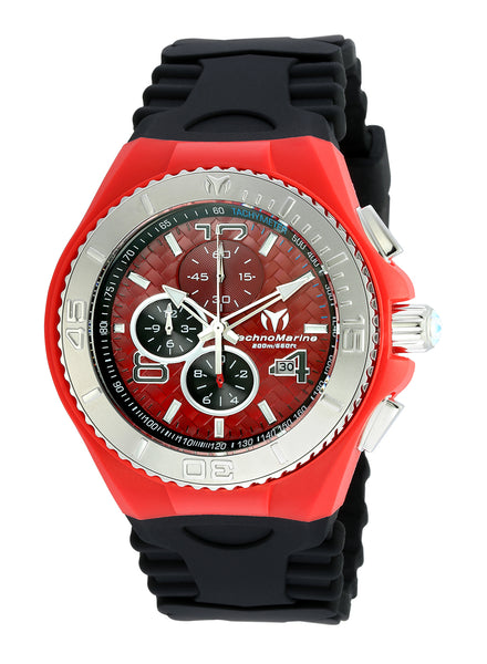 TR Men's TM-115113 Cruise JellyFish Quartz Red Dial Watch