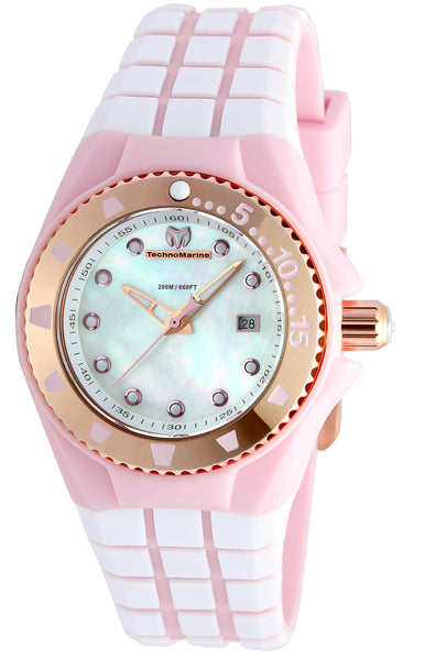 TR Women's TM-115222 Cruise Locker Quartz White Dial Watch