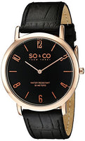 SO&CO New York Men's 5043.4 Madison with Black Genuine Leather Strap