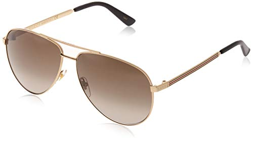 Gucci GG0137S Gold/Brown Gradient One Size