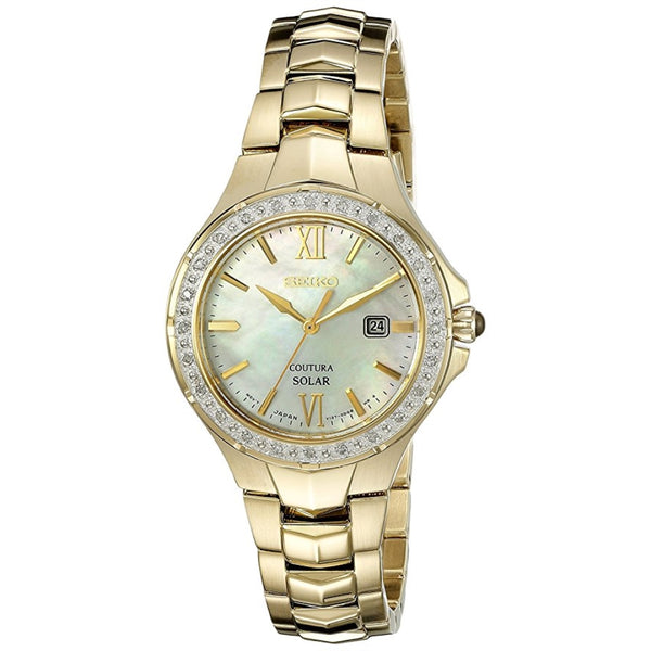 Seiko Women's SUT242 Coutura Analog Display Japanese Quartz Gold Watch