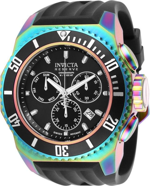 Invicta Men's 25734 Russian Diver Quartz Chronograph Black Dial Watch