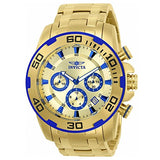 Invicta Men's 22320 Pro Diver Quartz Chronograph Gold Dial Watch