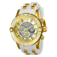 Invicta Men's 24168 Jason Taylor Quartz Chronograph Silver Dial Watch