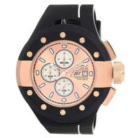 Invicta Men's 22439 S1 Rally Quartz Multifunction Rose Gold, White Dial Watch