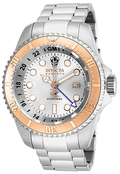 Invicta  Men's 16964 Reserve Quartz 3 Hand Silver Dial Watch