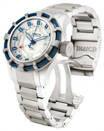 Invicta 12709 Men Reserve Bolt Sport Swiss Quartz GMT Stainless Steel Watch