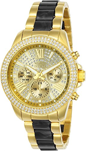 Invicta Women's 24125 Angel Quartz Chronograph Gold Dial Watch