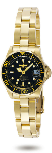 Invicta Women's 8943 Pro Diver Quartz 3 Hand Black Dial Watch