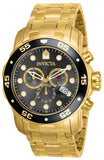 Invicta Men's 80064 Pro Diver Quartz 3 Hand Charcoal Dial Watch