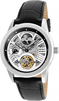 Invicta Men's 25261 Objet D Art Automatic 3 Hand Silver, Black Dial Watch