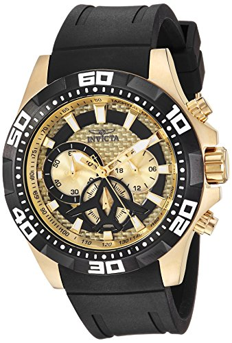 Invicta Men's 23756 Aviator Quartz Multifunction Champagne Dial Watch