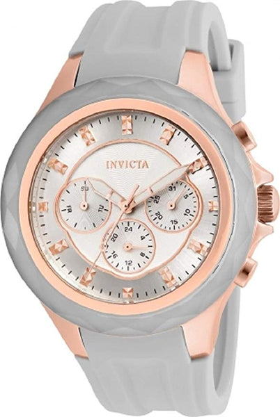 Invicta Women's 22676 Angel Quartz Chronograph Grey, Rose Gold, Silver Dial Watch