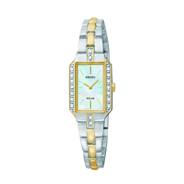 Seiko Women's SUP234 Dress Solar Two-Tone Watch