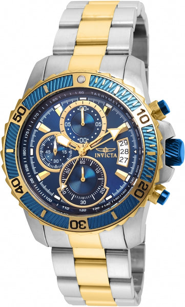 Invicta Men's 22415 Pro Diver Quartz Multifunction Blue Dial Watch