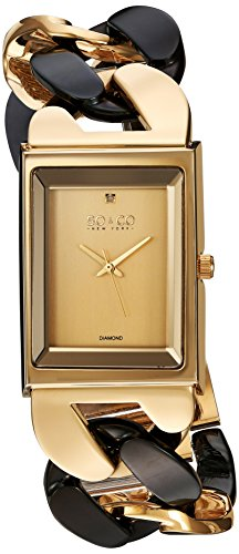 SO&CO New York Women's 'SoHo' Quartz Metal and Stainless Steel Dress Watch, Color:Two Tone (Model: 5094.5)