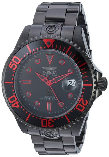 Invicta Men's 21870 Pro Diver Automatic 3 Hand Black Dial Watch