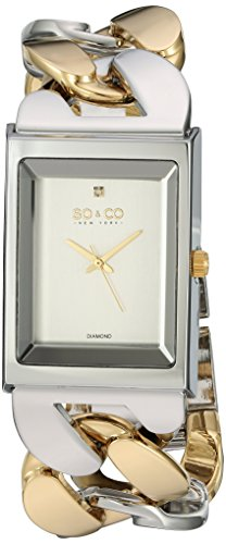 SO&CO New York Women's 'SoHo' Quartz Metal and Stainless Steel Dress Watch, Color:Two Tone (Model: 5094.4)