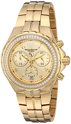 Technomarine Women's TM-416031 Eva Longoria Quartz Gold Dial Watch