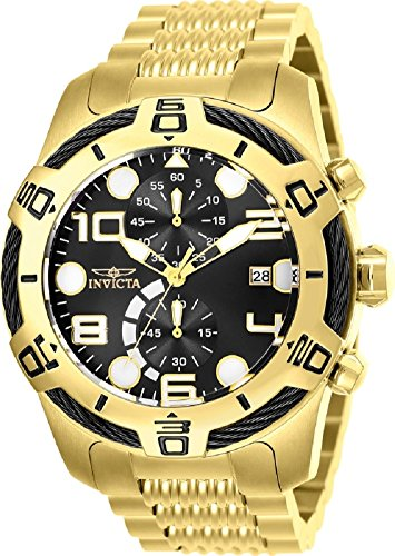 Invicta Men's 25550 Bolt Quartz Multifunction Black Dial Watch