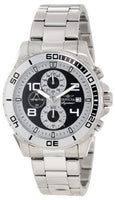 Invicta 7390 Men's Signature Chronograph Black Dial Stainless Steel Watch