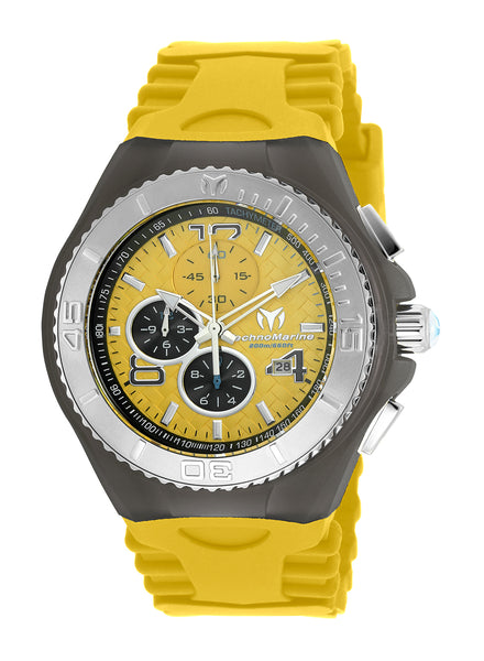 TR Men's TM-115112 Cruise JellyFish Quartz Yellow Dial Watch