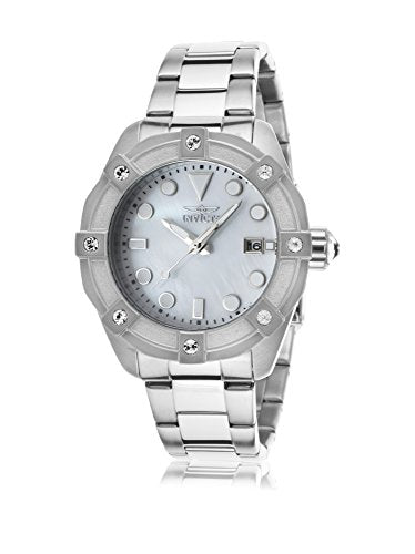 Invicta Women's 20318 Angel Quartz 3 Hand White Dial Watch