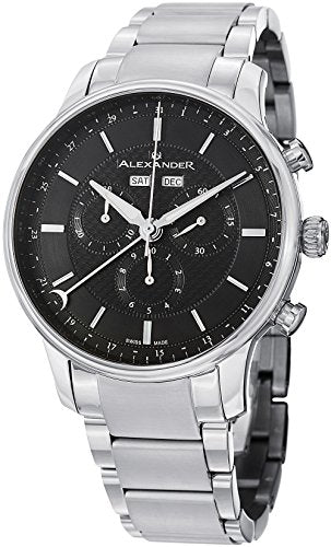 Alexander A101B-02 Statesman Men's Chronograph Stainless Steel Swiss Watch
