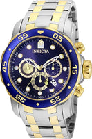 Invicta Men's 24849 Pro Diver Quartz Chronograph Blue Dial Watch