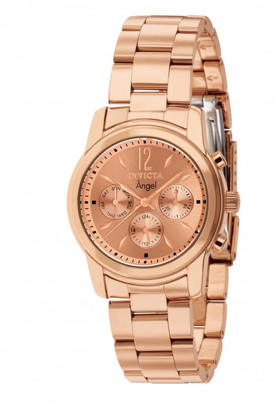 Invicta Women's 12509 Angel Quartz Chronograph Rose Gold Dial Watch