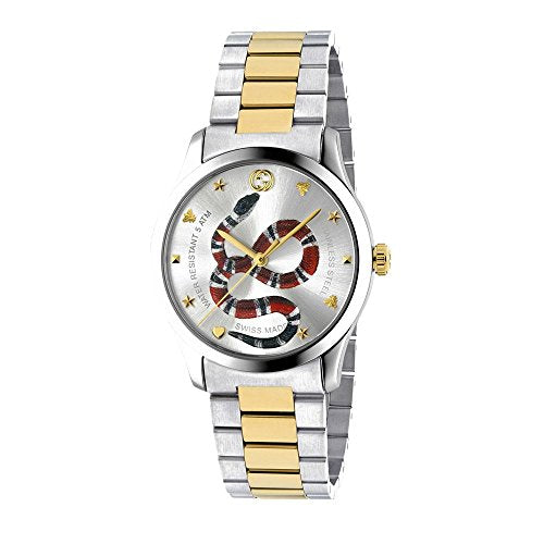 Gucci G-Timeless - YA1264075 Silver/Two-Tone Yellow Gold One Size