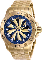 Invicta Men's 25851 Speedway Automatic 3 Hand Gold, Blue Dial Watch