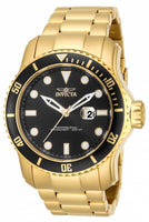 Invicta Pro Diver Black Dial 18kt Gold Ion-plated Mens Watch 15351 [Watch] In...