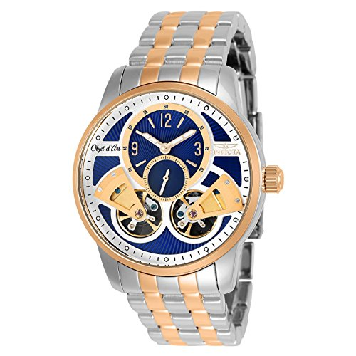 Invicta Men's 25578 Objet D Art Automatic Multifunction Blue, Silver Dial Watch