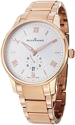 Alexander A102B-04 Statesman Regalia Men's Analog Rose Gold Plated Swiss Watch