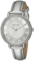 SO&CO New York Women's 5090.1 SoHo Quartz Crystal Accent Metallic Leather Band Watch
