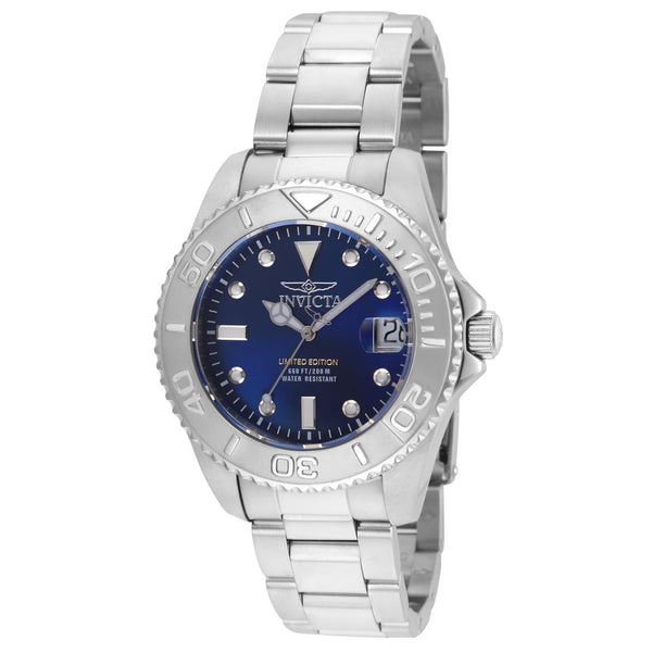 Invicta Women's 24632 Pro Diver Quartz 3 Hand Blue Dial Watch