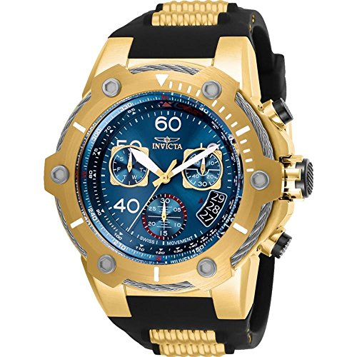 Invicta Men's 25873 Bolt Quartz Chronograph Blue Dial Watch