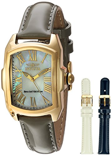 Invicta Women's 20457 Lupah Quartz 3 Hand White Dial Watch