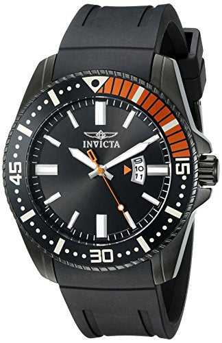 Invicta Men's 21449 Pro Diver Analog Display Quartz Black Watch