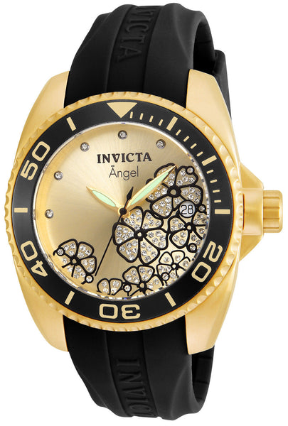 Invicta Women's 23488 Angel Quartz 3 Hand Champagne Dial Watch