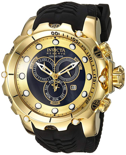 Invicta Men's 20401 Venom Quartz Chronograph Black, Gold Dial Watch
