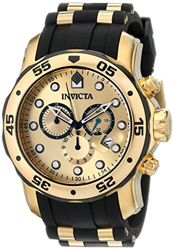 Invicta Men's 17885 Pro Diver Quartz Multifunction Gold Dial Watch