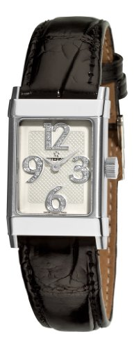 Eterna 8790.41.14.1156 Quartz Ladies Black Leather Strap Diamond Watch