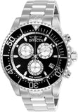 Invicta Men's 26846 Pro Diver Quartz Chronograph Black, Silver Dial Watch