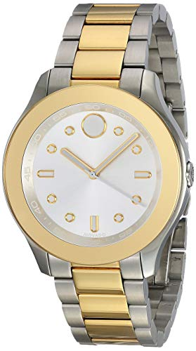 Movado Women's Swiss-Quartz Watch with Two-Tone-Stainless-Steel Strap, 19 (Model: 3600418)
