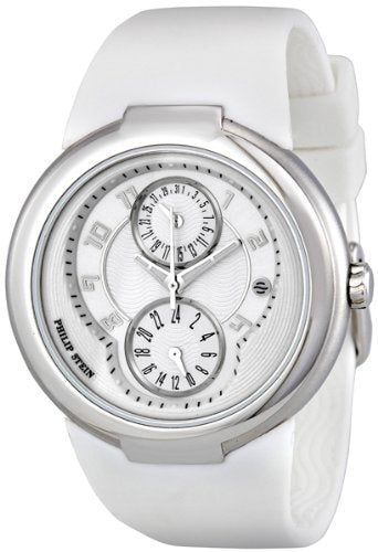 Philip Stein Active White Rubber Strap Silver-tone Ladies Watch 31-AW-RW [Wat...